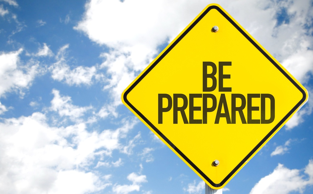 Be Prepared sign with sky background