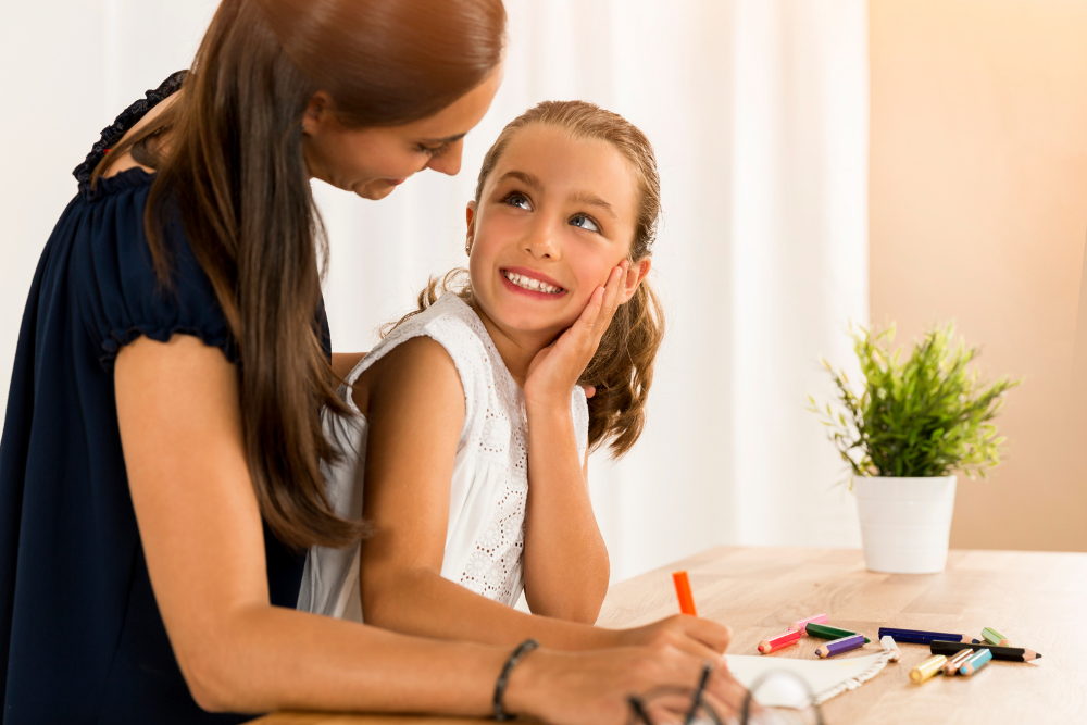 woman successfully homeschools her child while working from home full time