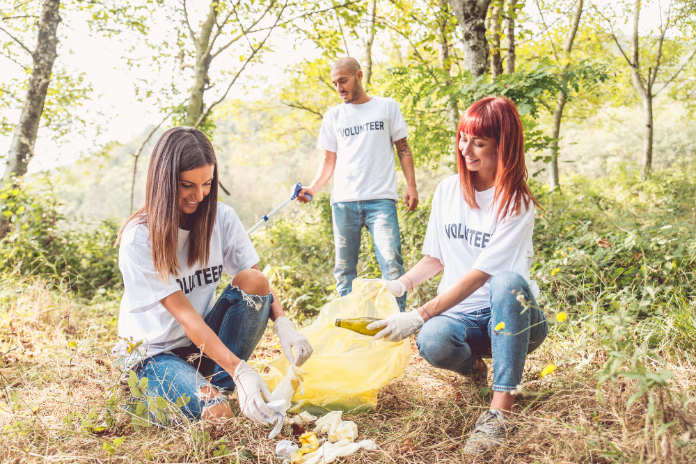 employees doing community service through work