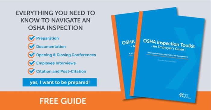 OSHA Inspection Toolkit - An Employer's Guide